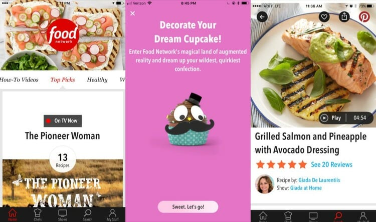 Food Network In The Kitchen Augmented Reality App