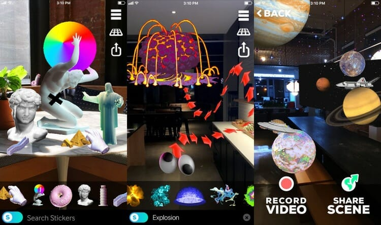 Giphy World AR Sticker App for iPhone X
