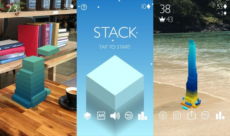 Stack AR iOS Game For iPhone X