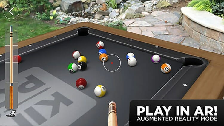 Pool in Augmented Reality Kings of Pool Game Screenshot