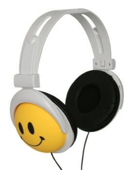 Happy Canz Smiley Face Emoji Headphones for Gift Ideas