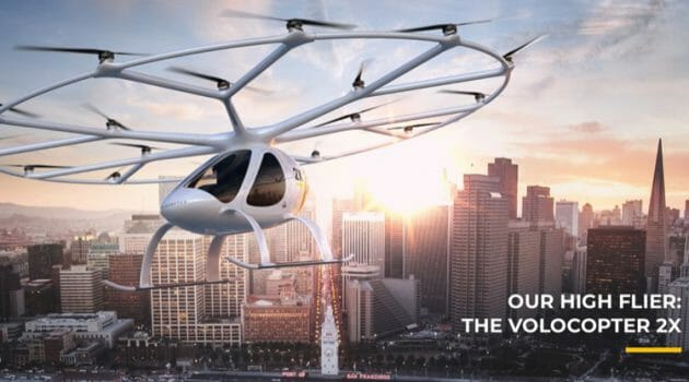 Volocopter – A Human Carrying Drone For Air Taxi's in Urban Cities