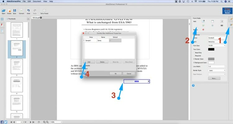 Creating or Editing a Form Fields In a PDF