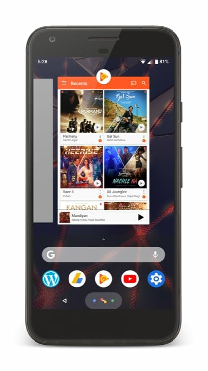 Android P Features - Gestures on Home Screen