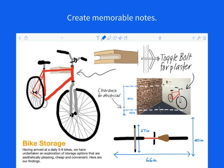 Notability App on iPad Pro